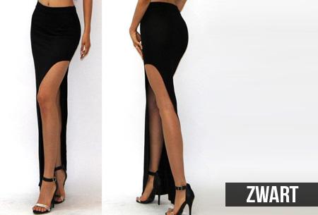 lange rok met hoge split