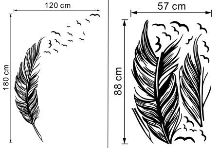 Feather muursticker nu slechts €9,95   Voor een sfeervol interieur