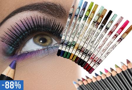 12 kleuren oogpotloden