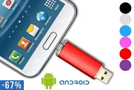 Dual Micro USB-geheugenstick nu al vanaf €9,95!