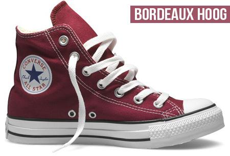 Converse All Stars hoog of laag model 36 Bordeaux Laag