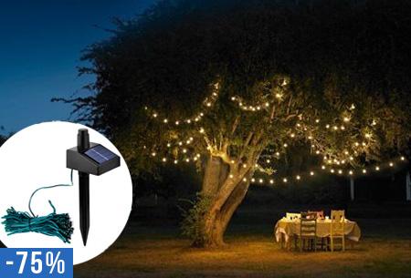 Genoeg Solar LED tuinverlichting met 100 LED lampjes nu slechts €9,95! &SV01