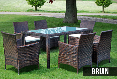 wicker volledige tuinset nu al vanaf 449 95 met 6 of 8 stoelen. Black Bedroom Furniture Sets. Home Design Ideas