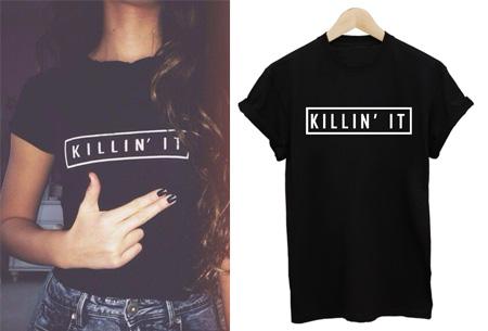 T shirt dames tekst