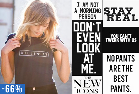 Slogan T-shirt nu slechts €11,95!