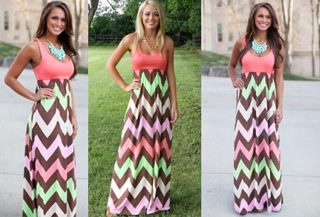 zomer jurk lang