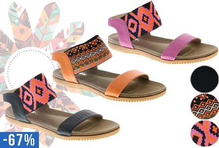 Bohemian aztec slippers