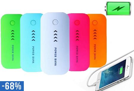 Portable oplader voor je telefoon, tablet etc. nu €12,95!