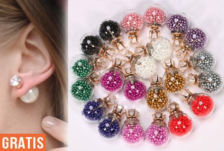 oorbellen met twee bolletjes