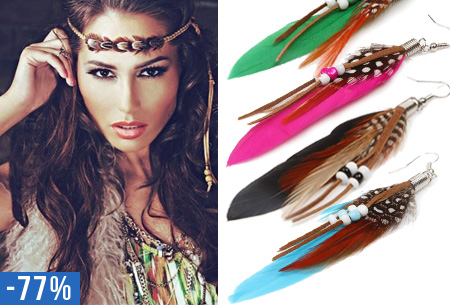 Feather oorbellen nu slechts €3,95!