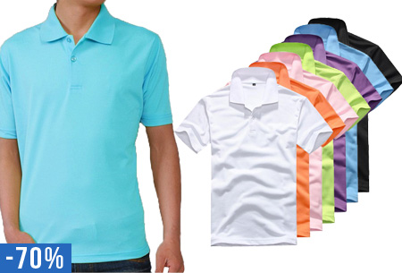 Heren polo t.w.v. €29,95 nu slechts €8,95!
