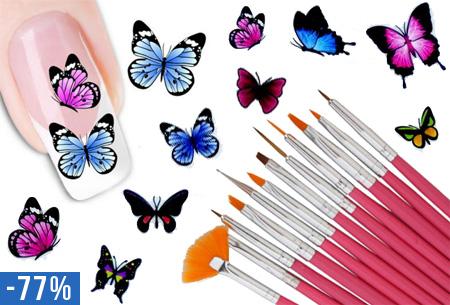 Nail art nagelset t.w.v. €24,95 nu slechts €6,95!