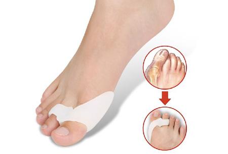 Siliconen teen ondersteuners | Corrigeert de houding van de grote teen en helpt tegen pijn