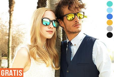 Spiegel Wayfarer zonnebrillen in 12 uitvoeringen - t.w.v. €19,95 nu GRATIS