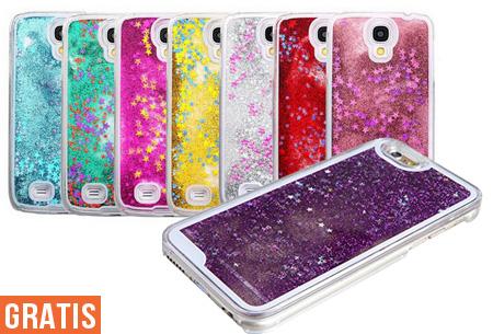 Glitter smartphone case nu GRATIS!