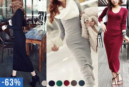 Lange jurk nu voor maar €14,95 | In 6 mooie najaarskleuren