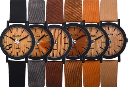 f84b3c9466518f Wood horloge nu met korting voor slechts €8