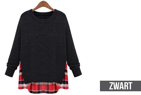 Blouse En Trui Ineen.Sweater Met Ruit Nu Slechts 19 95 Trui En Blouse In Een