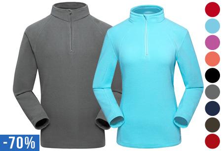 Fleece trui voor dames of heren nu slechts €14,95!
