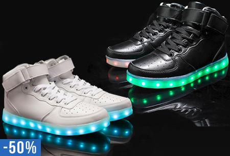 Oplaadbare LED schoenen hoog model nu slechts €59,95!