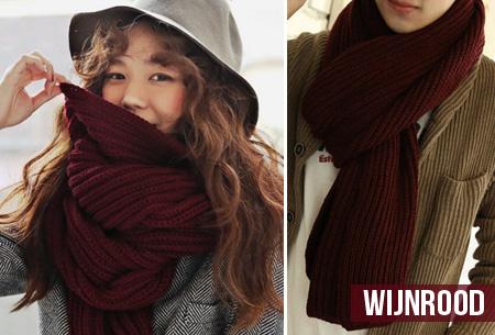 Gebreide sjaal nu slechts €9,95 | Keuze uit 7 kleuren - Leuk voor vrouwen & mannen!