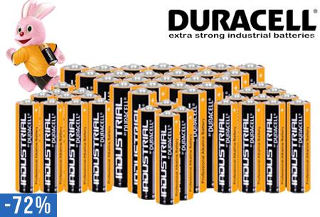 Duracell Industrial batterijen 48 stuks nu voor slechts €19,95 | Gaan tot wel 5x langer mee!