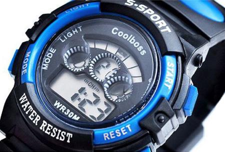 S-sport heren horloge nu slechts €7,95 | Voor een sportieve en stoere look!