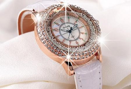 Sprankelend Pearl horloge nu slechts €7,95 | Verkrijgbaar in 6 kleuren