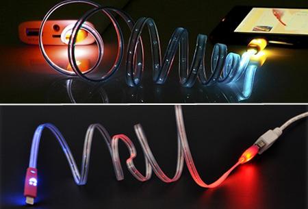 LED verlichte smiley meter platte USB oplaadkabel nu 1 + 1 GRATIS voor slechts €5,95!