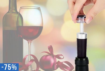 Wijn vacuüm dop nu slechts €4,95 | Geniet langer van je wijn