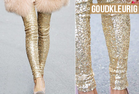 Pailletten legging nu slechts €19,95 | Voor een originele, feestelijke look!