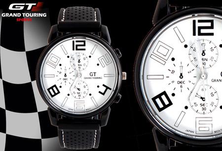 Grand Touring 2.0 herenhorloge t.w.v. €49,95 nu slechts €7,95 - Top kwaliteit voor een spotprijs!