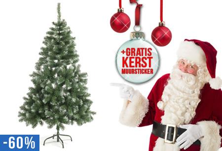 Kerstboom 120 cm of 180 cm met of zonder LED verlichting