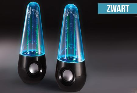 Waterdance speakers, 2 stuks nu maar €24,95 | LED verlichte water danst mee op de beat!