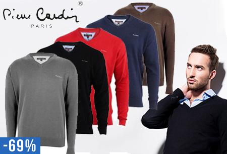 Pierre Cardin heren V-hals pullover nu slechts €24,95 | 100% kwaliteitskatoen