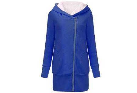 Lang zipper dames vest | Stijlvol & comfortabel Blauw