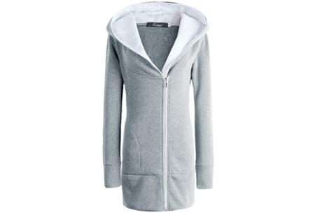 Lang zipper dames vest | Stijlvol & comfortabel Grijs