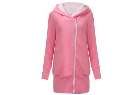 Lang zipper dames vest | Stijlvol & comfortabel Roze
