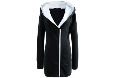 Lang zipper dames vest | Stijlvol & comfortabel Zwart