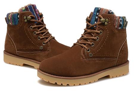 Aztec schoenen met fleece binnenvoering nu slechts €34,95 | Heerlijk warme winterschoenen! bruin