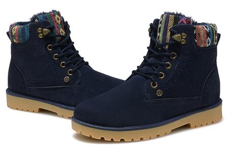 Aztec schoenen met fleece binnenvoering nu slechts €34,95 | Heerlijk warme winterschoenen! donkerblauw