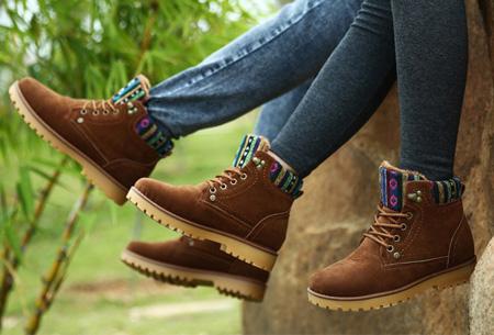 Aztec schoenen met fleece binnenvoering nu slechts €34,95 | Heerlijk warme winterschoenen!