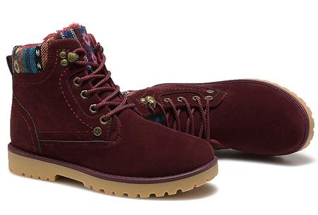Aztec schoenen met fleece binnenvoering nu slechts €34,95 | Heerlijk warme winterschoenen! wijnrood