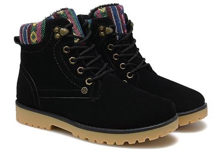 Aztec schoenen met fleece binnenvoering nu slechts €34,95 | Heerlijk warme winterschoenen! zwart