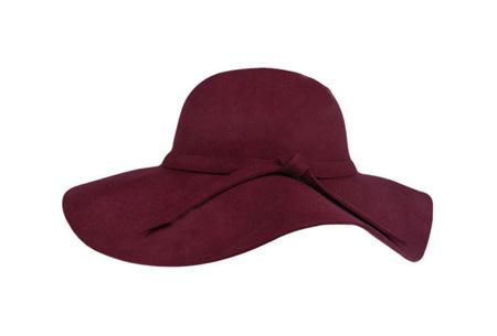 Stijlvolle hoed nu slechts €9,95 | Chique, trendy en fashionable! Wijnrood