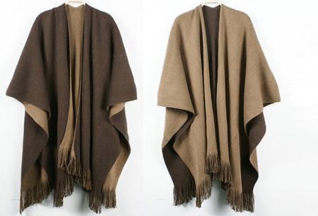 Multifunctionele poncho nu slechts €19,95 | Draag als vest, jas, sjaal of omslagdoek! coffee/beige