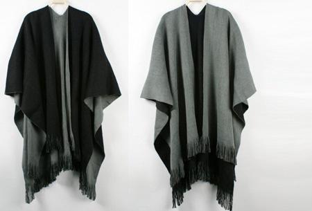 Multifunctionele poncho nu slechts €19,95 | Draag als vest, jas, sjaal of omslagdoek! grijs/zwart