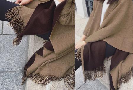 Multifunctionele poncho nu slechts €19,95 | Draag als vest, jas, sjaal of omslagdoek!