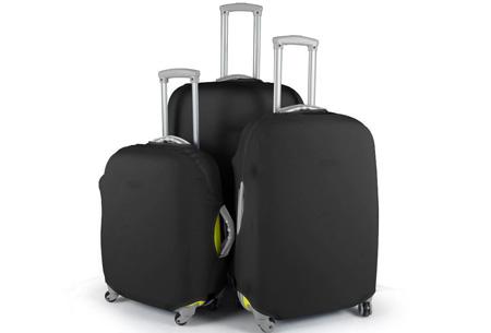 Kofferhoezen al vanaf €10,95 | Herken altijd en overal je koffer! #5 Zwart