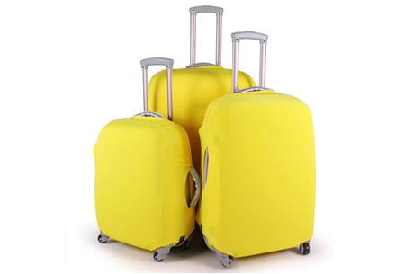 Kofferhoezen al vanaf €10,95 | Herken altijd en overal je koffer! #7 Geel